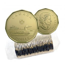 2018 Canadian $1 Common Loon Dollar Original Coin Roll
