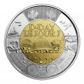 2019 (1944-) Canadian $2 D-Day 75th Anniv Remembrance Non-Coloured Toonie Special Wrap Coin Roll