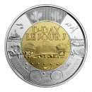 2019 (1944-) Canadian $2 D-Day 75th Anniv Remembrance Non-Coloured Toonie Coin (Brilliant Uncirculated)