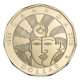 2019 (1969-) Canadian $1 Equality 50th Anniv Loonie Dollar Coin (Brilliant Uncirculated)