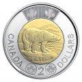 2019 Canadian $2 Polar Bear Toonie First Strikes Special Wrap Coin Roll