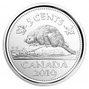 2019 Canadian 5-Cent Beaver Nickel Coin (Brilliant Uncirculated)