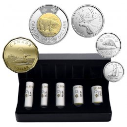 2019 Canadian 5-Coin First Strikes Special Wrap Roll Collection