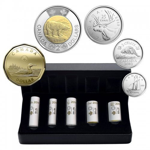 CANADA 2019 COMPLETE COIN SET 5 CENTS TO 2 DOLLARS UNCIRCULATED 6 COINS