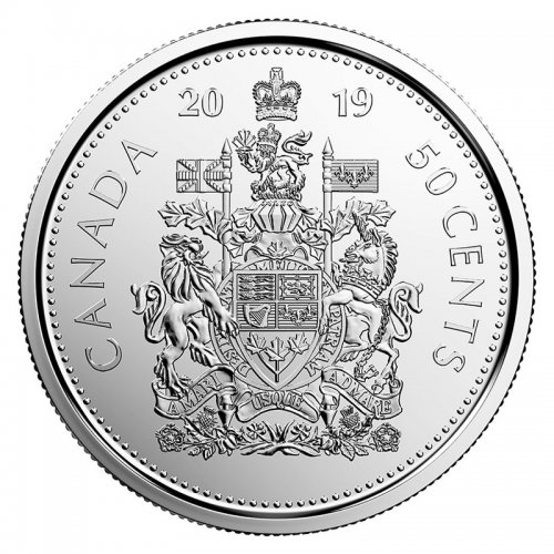 2019 Canadian 50-Cent Coat of Arms Circulation Coin (Brilliant Uncirculated)