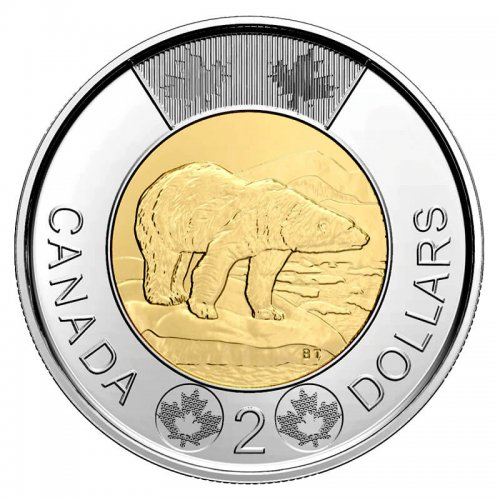 2020 Canadian $2 Polar Bear Toonie Coin (Brilliant Uncirculated)