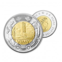 2017 Canadian $2 The Battle of Vimy Ridge 100th Anniv Remembrance Toonie Coin (Brilliant Uncirculated)
