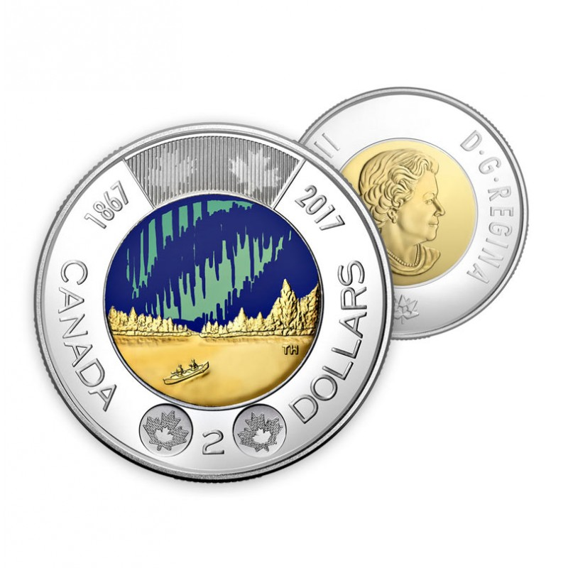 from set 2019 Canada Classic design Toonie $2 proof finish steel coin only