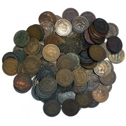 1880s - 1908 United States 1 Cent Indian Head Penny 100pc Lot (Circulated)