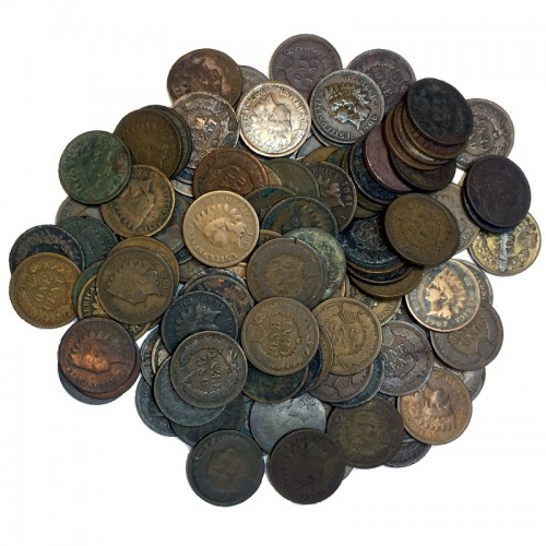1880 - 1908 United States 1 Cent Indian Head Penny 120pc Lot (Circulated)