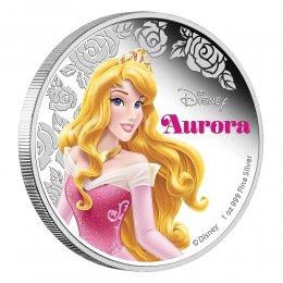 2015 Niue $2 Disney Princess: Aurora - 1 oz Fine Silver Coin