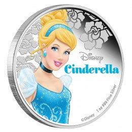 2015 Niue $2 Disney Princess: Cinderella - 1 oz Fine Silver Coin