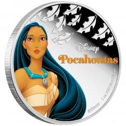 2016 Niue $2 Disney Princess: Pocahontas - 1 oz Fine Silver Coin