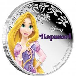 2016 Niue $2 Disney Princess: Rapunzel - 1 oz Fine Silver Coin