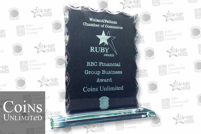 Coins Unlimited Celebrates RBC Business Award at 2014 Ruby Awards