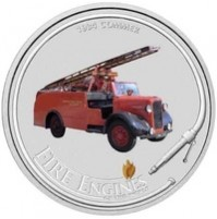 2006 Cook Islands Fine Silver Dollar Coin - Fire Engines of the World: 1934 Commer
