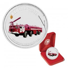 2006 Cook Islands $1 Fire Engines of the World: AA-60 Airfield 1 oz Fine Silver Dollar Coin