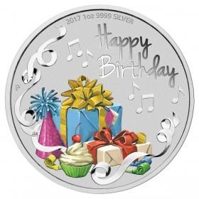2018 Australia 1 oz Fine Silver $1 Coin - Happy Birthday