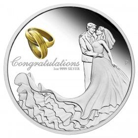 2018 Australia 1 oz Fine Silver $1 Coin - Wedding