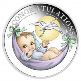 2018 Australian 50 Cent Newborn Baby Congratulations - 1/2 oz Fine Silver Coin
