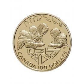 1990 Canada 14-karat Gold $100 Coin - International Literacy Year