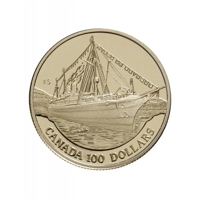 1991 Canada 14 Karat Gold 100 Coin The Empress Of India