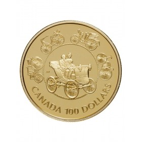 1993 Canada 14-karat Gold $100 Coin - The Horseless Carriage