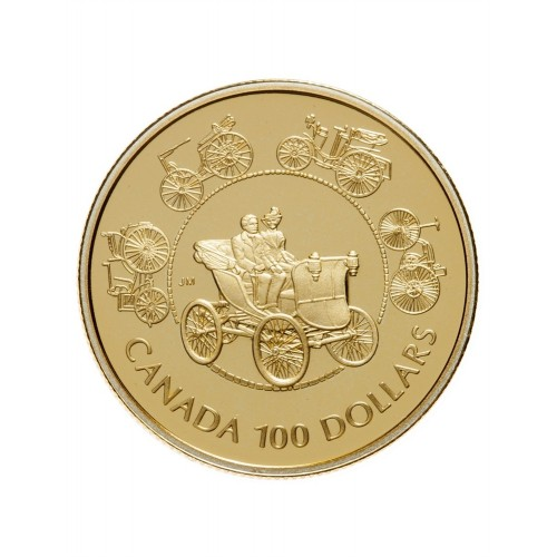 1993 Canada 14-karat Gold $100 Coin - The Horseless Carriage