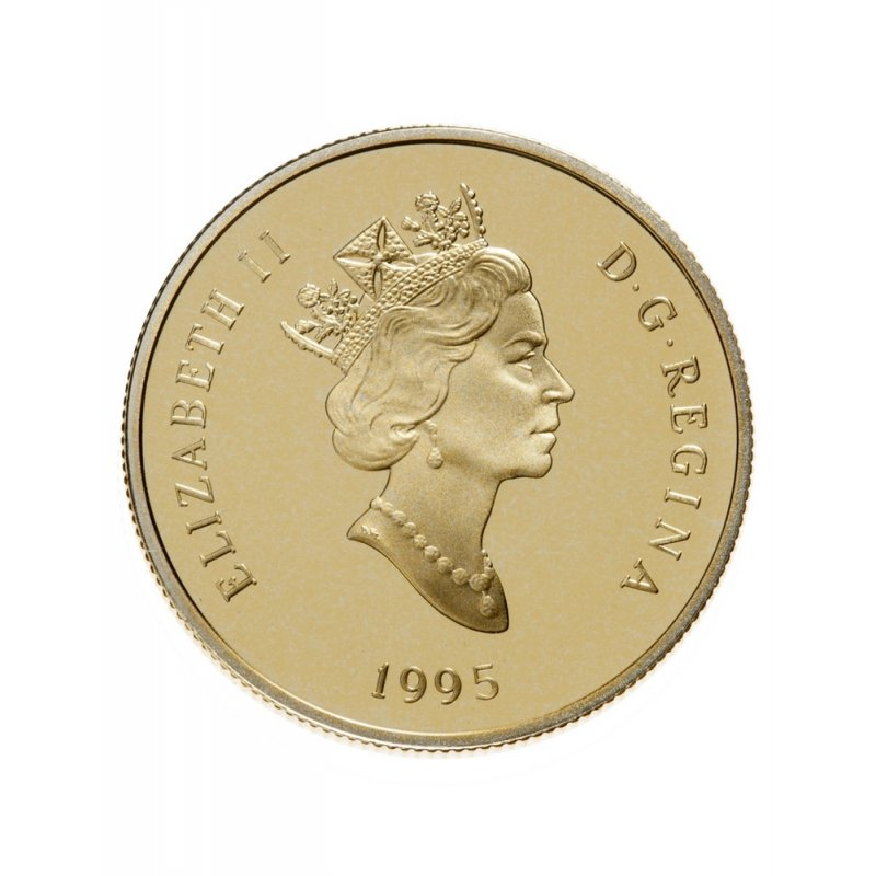 1995 Canada 14 Karat Gold 100 Coin 275th Anniversary Of The Founding Of Louisbourg