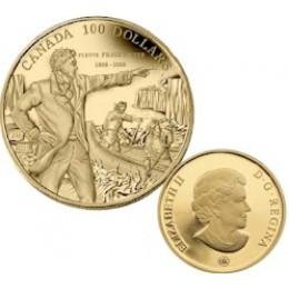 2008 Canada 14-kt Gold $100 Coin - 200th Anniversary of Descending the Fraser River