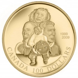 2009 (1999-) Canada 14-karat Gold $100 Coin - 10th Anniversary of Nunavut