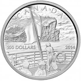 2014 Canadian $100 100th Anniversary of the Declaration of the First World War - 10 oz Fine Silver Coin