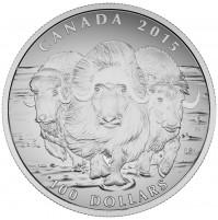 2015 Fine Silver 100 Dollar Coin - Musk Ox