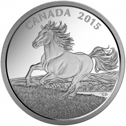2015 Canadian $100 for $100 The Little Iron Horse Fine Silver Coin