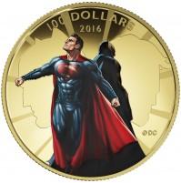 2016 Canada Gold 100 Dollar Coin - Batman v Superman: Dawn of Justice™