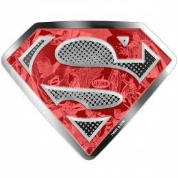2017 Canadian $100 DC Comics Originals: Superman's Shield - 10 oz Fine Silver Coin