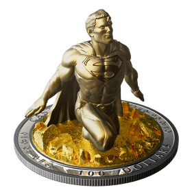 2018 Canadian $100 Superman™: The Last Son of Krypton - 10 oz Fine Silver & Gold-plated Coin