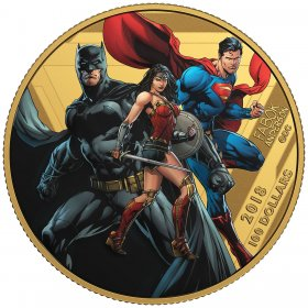 2018 Canadian $100 The Justice League: United We Stand - 14-karat Gold Coin