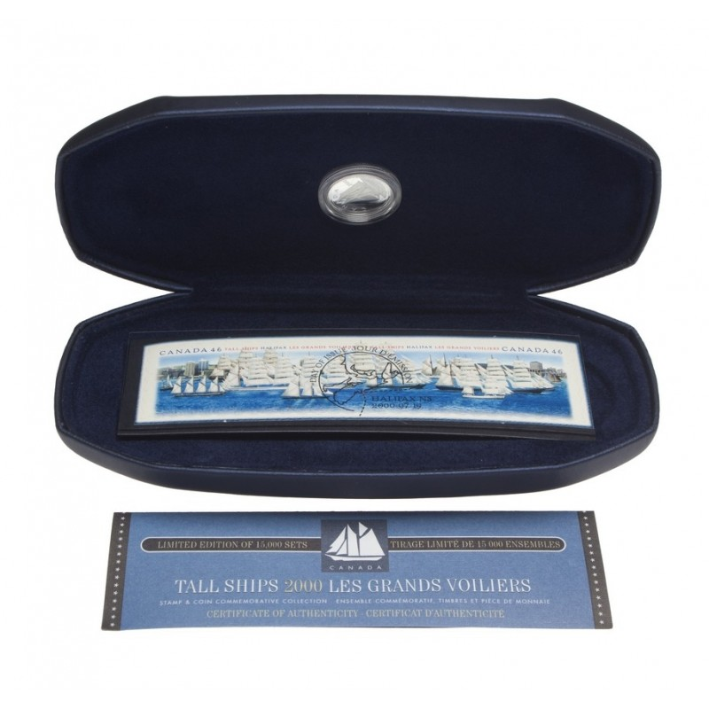 2000 Canadian Tall Ships 10 Cent Silver Coin Amp Stamp Commemorative Collection
