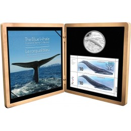 2010 Canada Sterling Silver $10 Coin & Stamp Set - The Blue Whale
