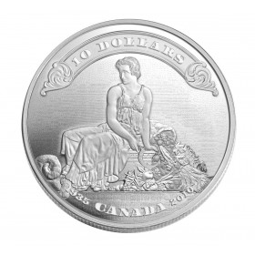 2010 Canada Fine Silver $10 Coin - 75th Anniversary of the First Bank Notes Issued By the Bank of Canada