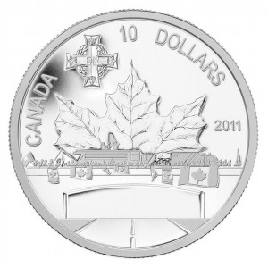 2011 Canadian $10 Highway of Heroes 1/2 oz Fine Silver Coin