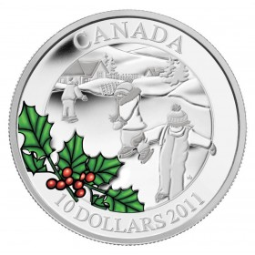 2011 Canadian $10 Little Skaters 1/2 oz Fine Silver Coin