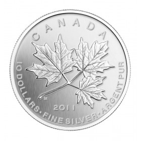2011 Canadian $10 Maple Leaf Forever 1/2 oz Fine Silver Coin