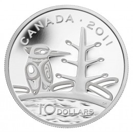 2011 Canada Fine Silver $10 Coin - Legendary Nature: The Canadian Boreal Forest