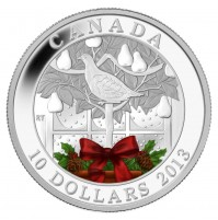 2013 Fine Silver 10 Dollar Coin - A Partridge in a Pear Tree