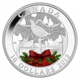 2013 Canada Fine Silver $10 Coin - A Partridge in a Pear Tree