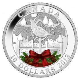 2013 Fine Silver 10 Dollar Coin - A Partridge in a Pear Tree