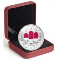2013 Fine Silver 10 Dollar Coin - Holiday Candles