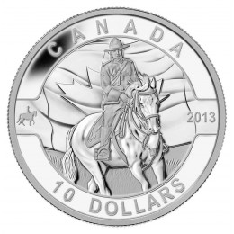 2013 Canadian $10 O Canada Series: Royal Canadian Mounted Police - 1/2 oz Fine Silver Coin